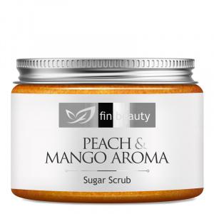 Zuckerpeeling mit dem Duft von Pfirsich und Mango