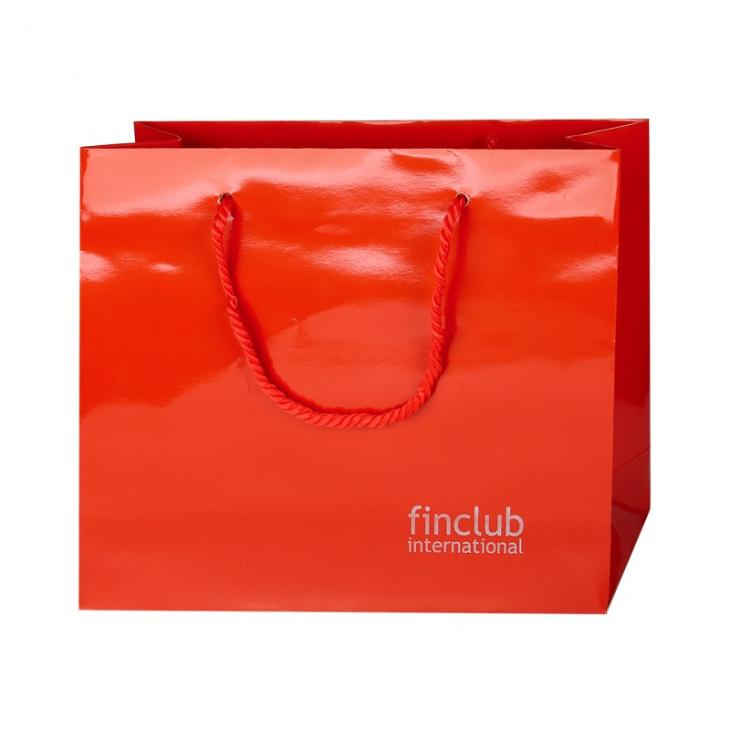 Geschenktasche Finclub - rot